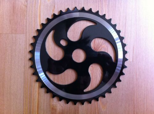 """Freestyle Bicycle ChainRing Sprocket 40T Black//Chrome 1//2/"""" x 1//8/"""" Bikes Cycling"""