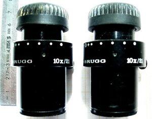 1-Pair-of-WILD-10X-21-BINOCULAIRE-MICROSCOPE-EYEPIECE-LEICA-HEERBRUGG-2