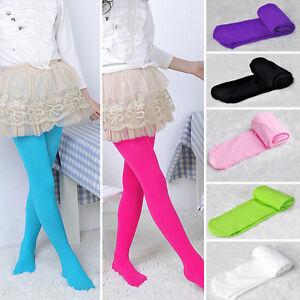 Enfants-Fille-Collant-Opaque-Souple-Ballet-Chaude-Danse-Classique-Chausettes