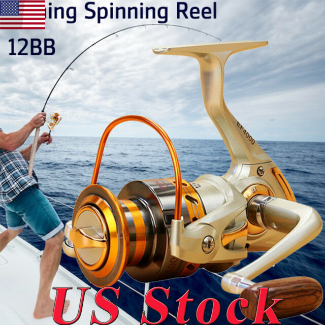 Left//Right Interchangeable 12BB Ball Bearing Saltwater Fishing Spinning Reel