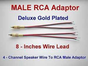 4 channel speaker wire to rca gold y adapter amp receiver ... 240 wiring diagram from 3 wire to a 20a 4 prong plug