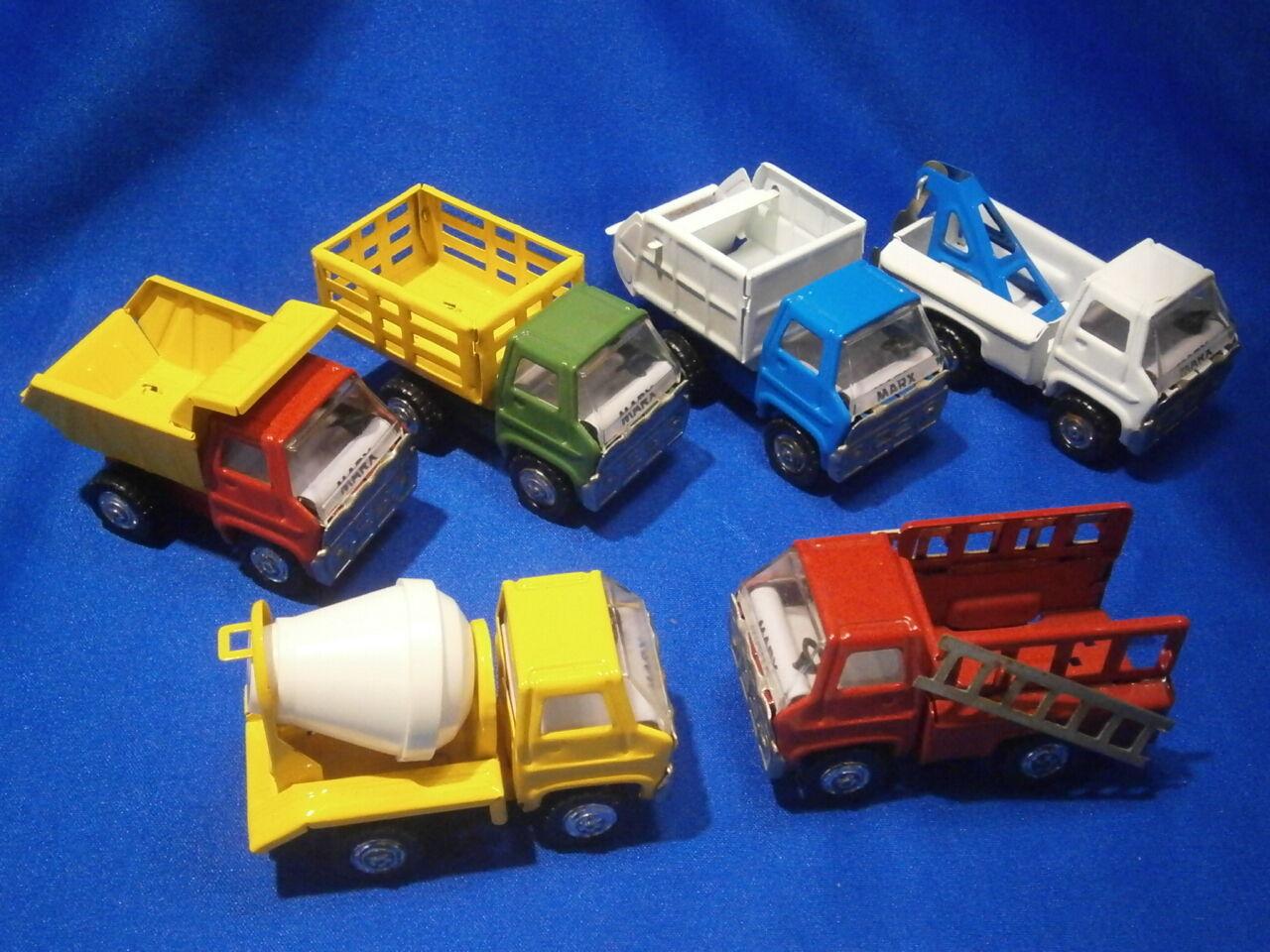 la calidad primero los consumidores primero Marx Tin De Colección Camión De Colección 6 trabajo flota flota flota de vehículos Excelente Estado 1970  ¡no ser extrañado!