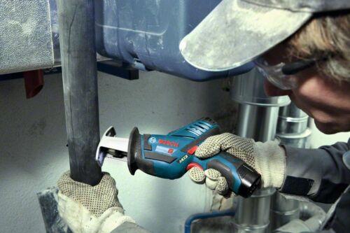 Bosch Akku-Säbelsäge GSA 12V-14 L-Boxx solo ohne Akku 2 Sägeblätter 060164L905