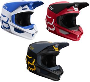 2019 Fox Racing V1 Matte Adult Riding Helmet Motocross Mx Dirt Bike Offroad Atv
