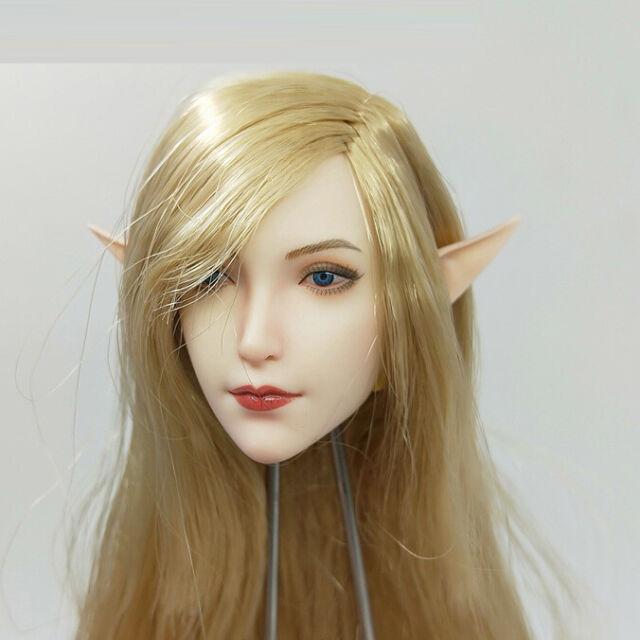 SUPER DUCK SET043 Fairy Elf Head 1/6th PVC Head Carved Sculpt Model Toy