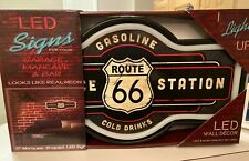 American Art Decor Vintage Route 66 Marquee Shaped LED Light Up Sign Wall Decor