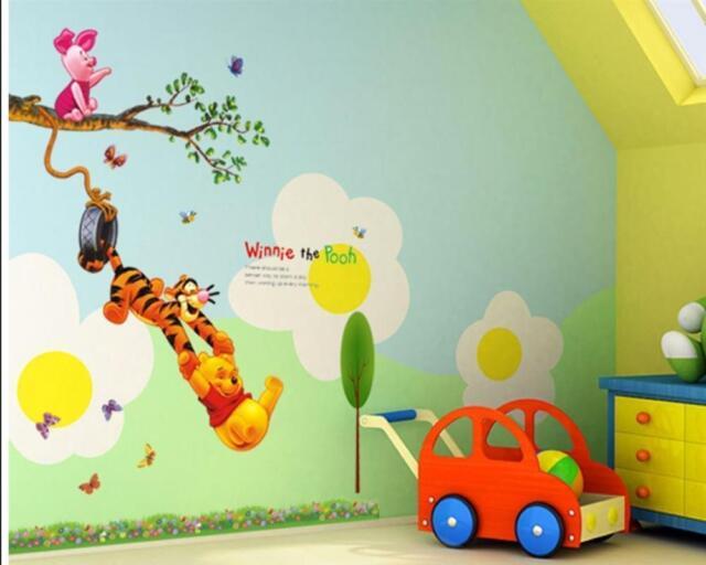 Disney Wandtattoo Kinderzimmer Winnie Puuh Wandaufkleber Wald Wand Freunde  W033