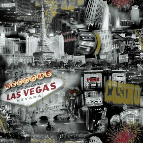 Las Vegas Casino Wallpaper Black White Photographic Cities Feature Ideco Home
