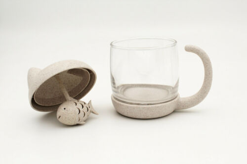 Winkee Tee Becher Katze mit integriertem Tee-EiTea Cup