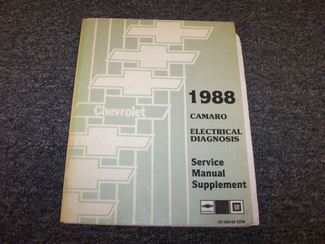 1988 Chevy Camaro Coupe Electrical Wiring Diagram Service Manual Supplement