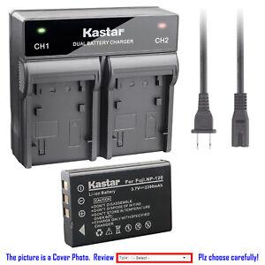 Cámara de batería cargador dual para Fuji Fujifilm finepix finepix np-120