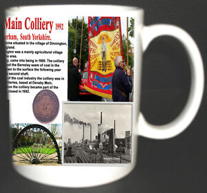 DINNINGTON-MAIN-COLLIERY-COAL-MINE-MUG-LIMITED-EDITION-GIFT-MINERS-YORKSHIRE-PIT