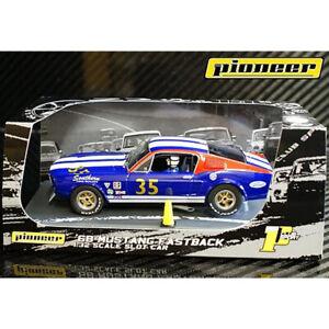Pioneer-P030-Pioneer-Mustang-Fastback-SFD-35-Blue-Slot-Car-1-32-Scalextric-DPR