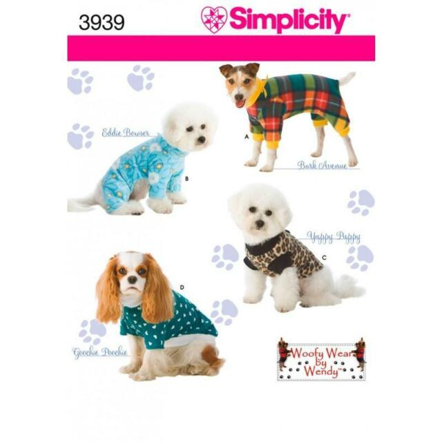 Simplicity Sewing Pattern 3939 Dog Clothes in 3 Sizes | eBay