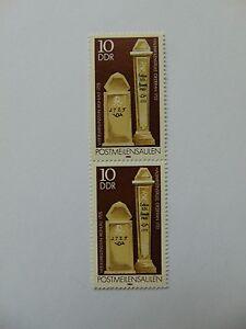 DDR Postmeilensäulen 10 Pfennig(**) 1984 mit Plattenfehler Mi 2853 I