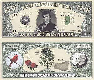 50-Indiana-IN-State-Quarter-Novelty-Money-Bills-Lot
