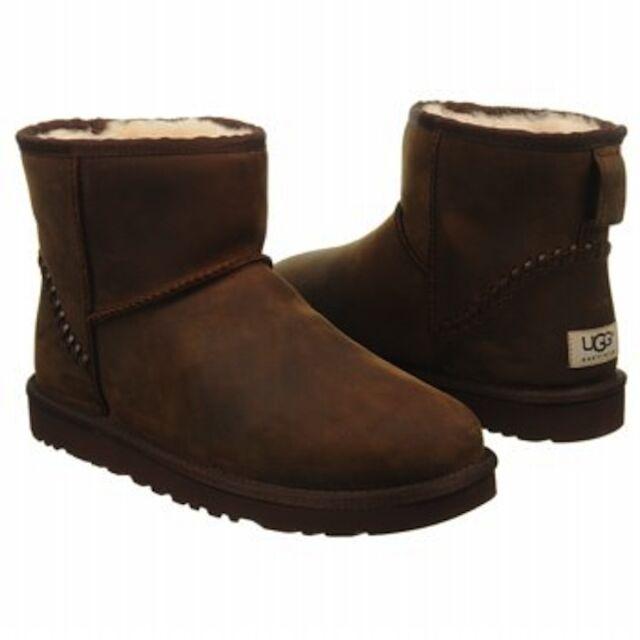16f99849843 Men UGG Australia Classic Mini Deco Leather Boot 1003945 Chestnut 100  Authentic 12