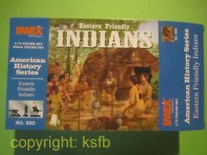 1-72-Imex-522-Indianer-Lager-Leben-Zelt-Tipi-Wigwam-Frauen-Kinder-Hunde-Kanu