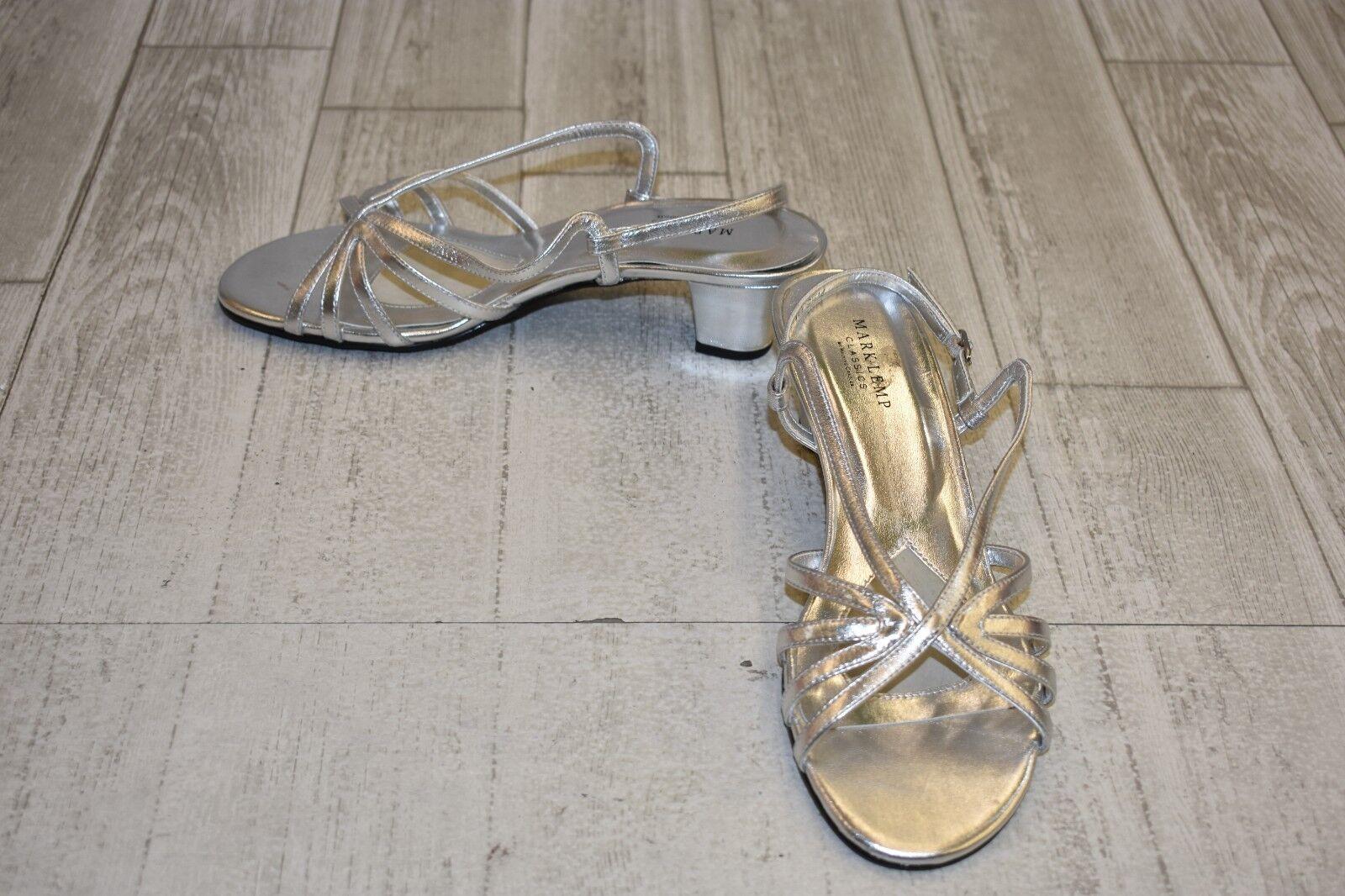 Mark Lemp Leash Heels - Women's Size 9.5 M - Silver