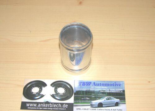 """2/"""" Alurohr brevemente 7,5cm Tubo Flessibile Connettore Llk Turbo Tubo NUOVO Connettore in alluminio 50 mm"""