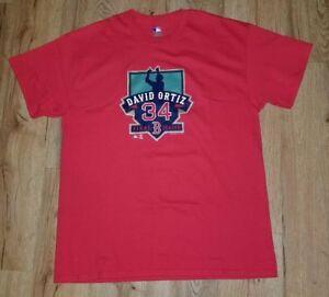 info for 7af81 1d641 Details about Boston Red Sox David Ortiz Final Season Red retirement  T-Shirt men's size-Large