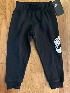 Nike Toddler boys Jumbo Futura Fleece Jogger Pants Black 76D948 Size 2T 3T