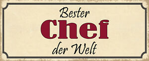 Best Chief the World Tin Sign Shield Arched Metal 10 X 27 CM K1170