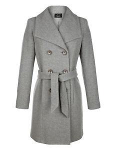 de en Manteau chin avec marque laine cachemire gris qpxwO1x