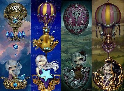 Jasmine Becket-Griffith SIGNED Circus Crystal Balloon Chariot 4 BIG art prints