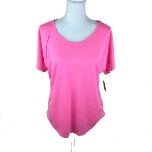 Mudd-Juniors-Womens-Large-Pink-Short-Sleeve-Top