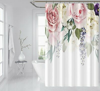 Home & Garden Curtains, Drapes & Valances Delicious 3d Pretty Flowers 78 Shower Curtain Waterproof Fiber Bathroom Windows Toilet To Win Warm Praise From Customers