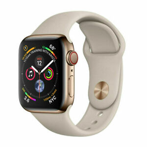 Apple Watch Series 5 44mm Gold Stainless Steel Case Stone Sportband Gps Cellular 190199278110 Ebay
