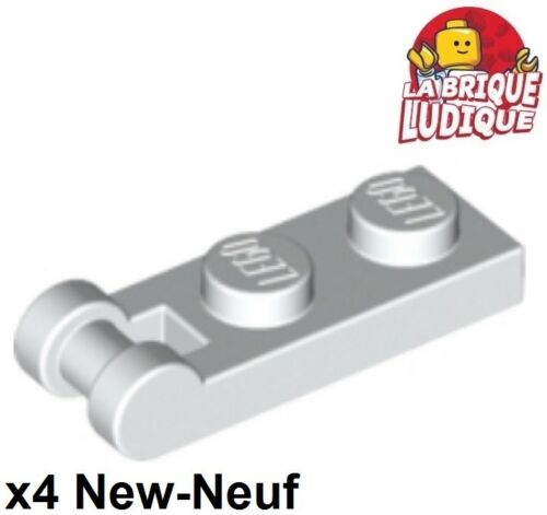 Lego 4x Plate Modified 1x2 with Handle on End blanc//white 60478 NEUF