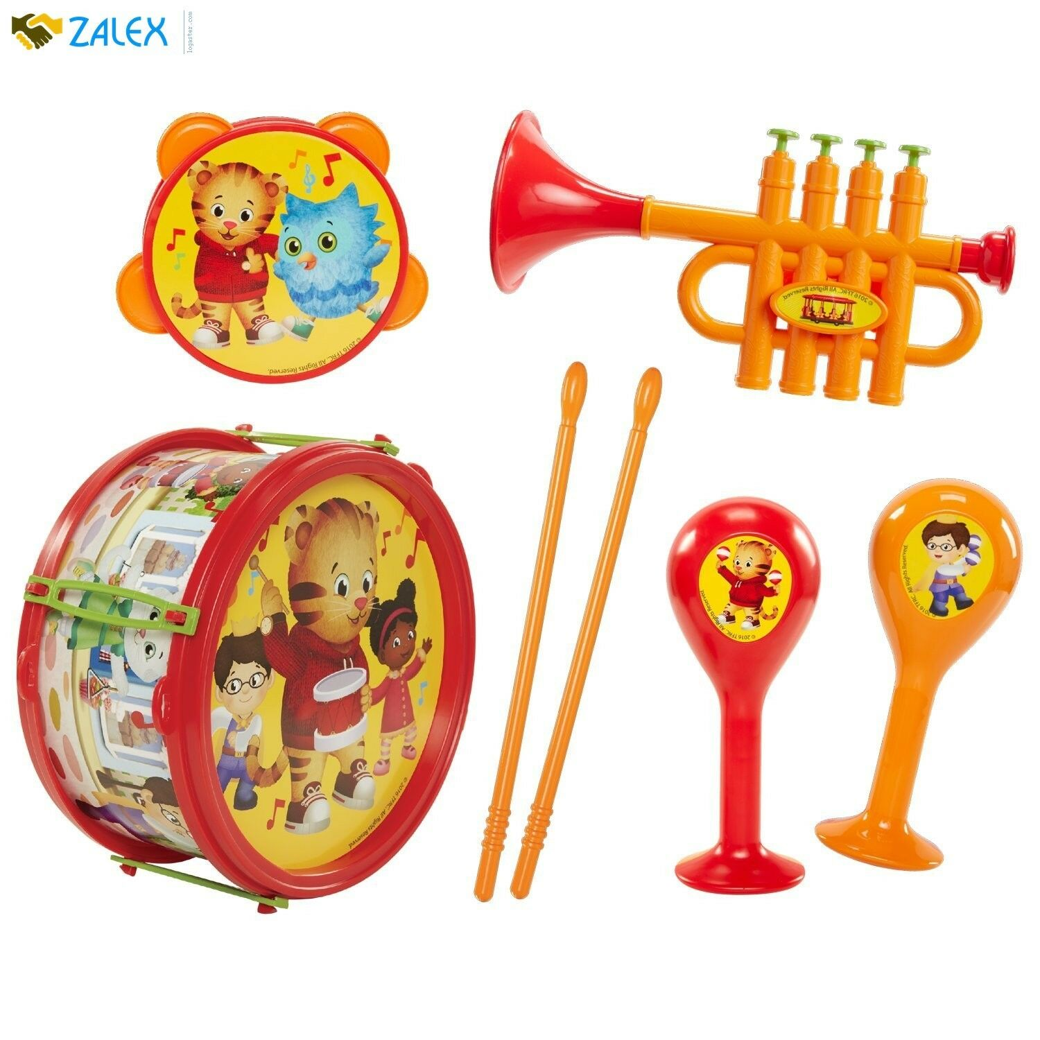 7 Piece Musical Instrument Play-set Daniel Tiger's Tiger's Tiger's Neighborhood Educational Toys 9d748d