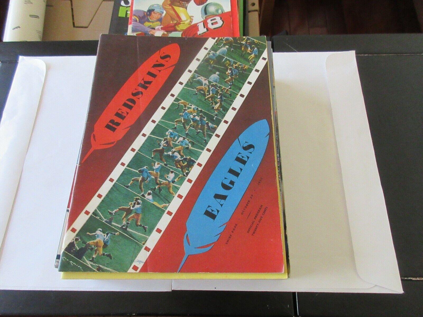 Redskins / Eagles , Official Program , October 29 , 195