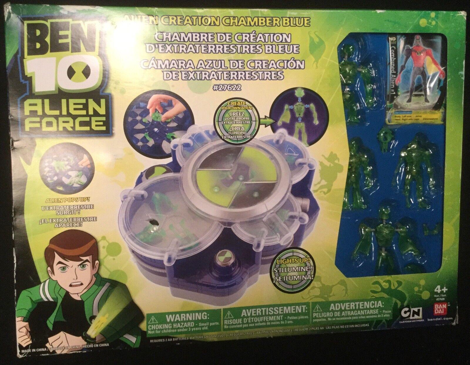 BEN 10 ALIEN CREATION CHAMBER CHAMBER CHAMBER playset includes 4 interchanging Figures Bandai 6659ba