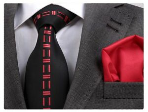 NEW ITALIAN DESIGNER BLACK amp RED CENTRAL MOTIF SILK TIE amp HANKY - Teesside, United Kingdom - Items must be returned within 7 days. Most purchases from business sellers are protected by the Consumer Contract Regulations 2013 which give you the right to cancel the purchase within 14 days after the day you receive the item - Teesside, United Kingdom