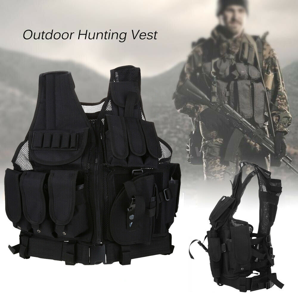 Military Vest Tactical Assault Plate  Carrier Holster Police Molle Combat Gear US  best choice