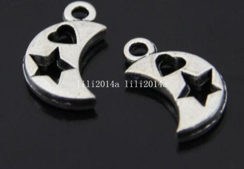 20pc Tibetan Silver moon Charm Pendant accessories Beads wholesale  PL274