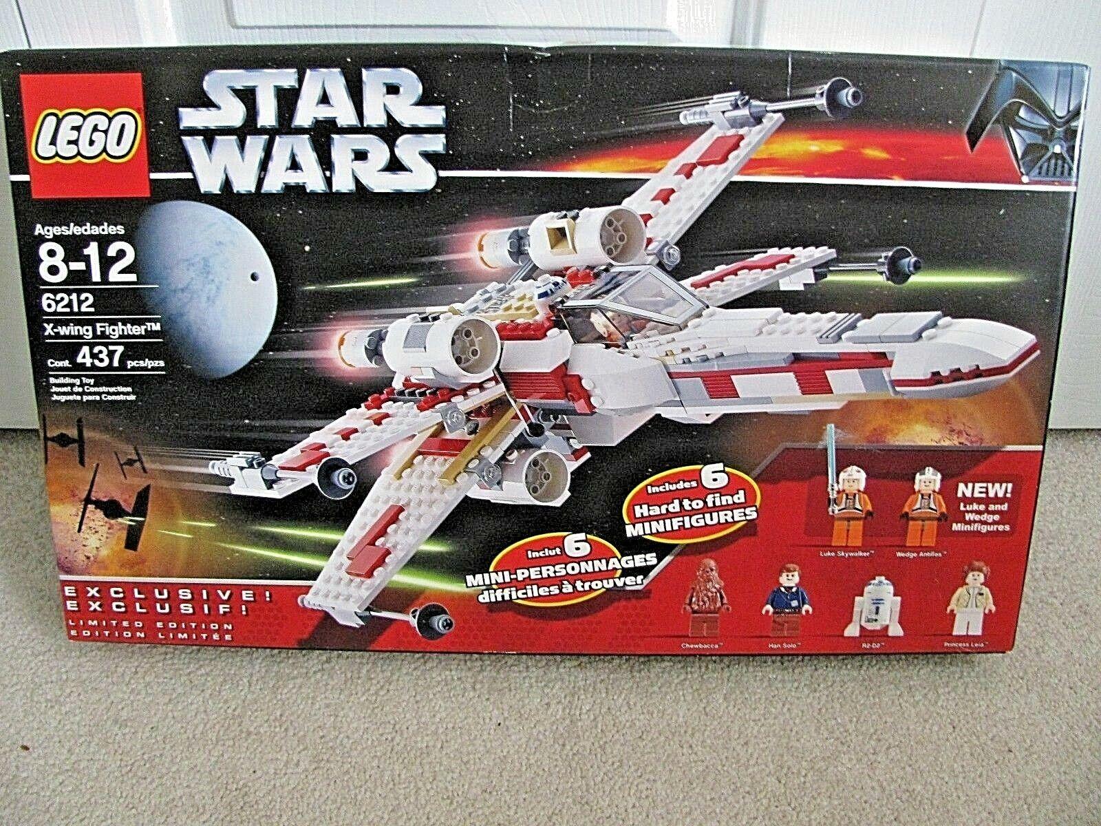 Lego 6212 Star Wars X-Wing Fighter Luke Skywalker R2D2 Antillas Leia Caja Sellada