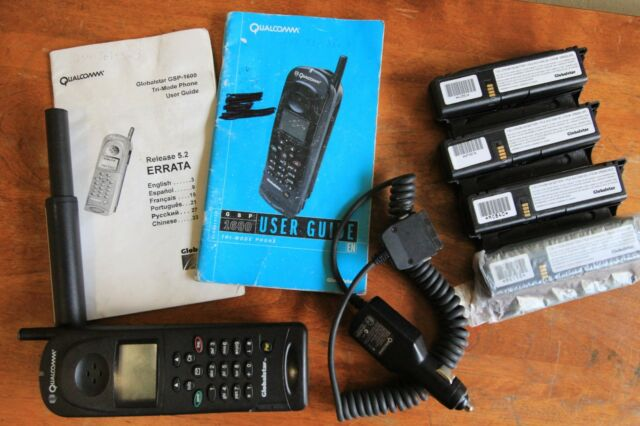 Globalstar GSP-1600 Tri-Mode Satellite Phone + Extra Batteries