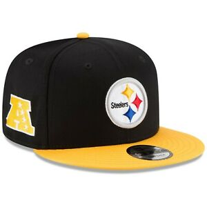 new arrivals 99d2f 187ef Image is loading New-Era-NFL-Pittsburgh-Steelers-Baycik-9FIFTY-Snapback-