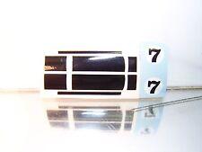 Hotwheels Redline (HEAVY CHEVY-STRIPES DECALS) BLACK