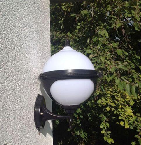 Noir Boule de jardin murale éclairage Luminaire extérieur paris Lampe de jardin Luminaire
