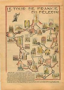 """France Notre-Dame de Lourdes/Mont Saint-Michel/Montmartre/Sion 1934 ILLUSTRATION - France - PORT GRATUIT A PARTIR DE 4 OBJETS BUY 4 ITEMS AND WORLDWIDE SHIPPING IS FREE EXCEPT USA, CANADA, AMERICA ONLY TRACKING MAIL ILLUSTRATION SUR PAPIER JOURNAL 100 % D'EPOQUE ETAT VOIR PHOTO FORMAT 25 CM X 17 CM SIZE : 9.84"""" X 6.69"""" inch G.158.31.10 - France"""