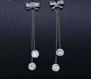 18k-white-gold-plated-Drop-Bow-Dangle-Earrings-made-with-Swarovski-crystals