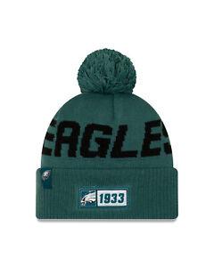 New-Era-NFL-Philadelphia-Eagles-Bobble-2019-2020-Sport-Knit-Sideline-Beanie-Hat
