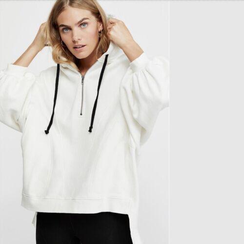 Free People High Road Pullover Sweatshirt Dolman Sleeve Ivory XSmall XS $128 NWT