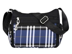 25255716f1 Image is loading Women-Durable-Oxford-Plaid-Crossbody-Bag-Casual-Shoulder-