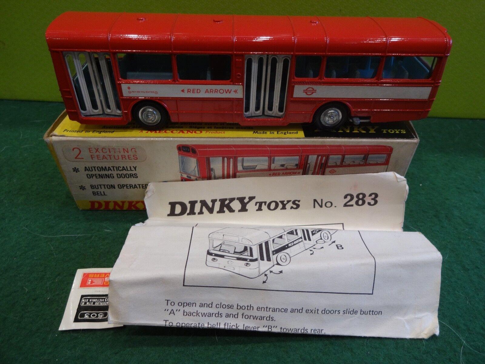 Dinky Toys 283 Single Decker Autobús en rosso sólido Raro
